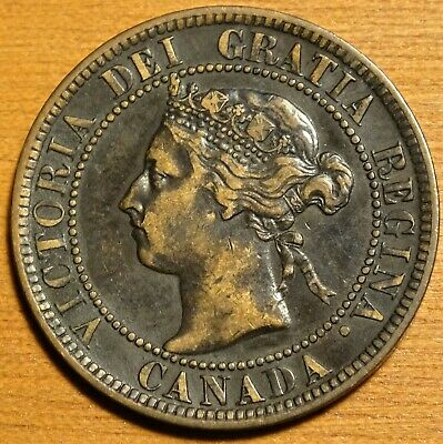 1897 Canada Large Cent Coin - VERY NICE Victoria Penny!