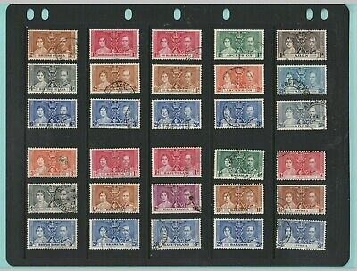 Stamps - British  Commonwealth - Coronation - 47 Sets Of Used Stamps Of 1937