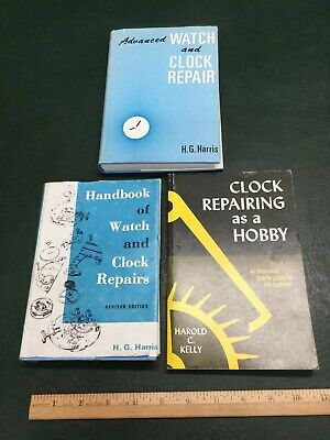 Lot of 3 Books ~ H.G. Harris Watch and Clock Repair, Handbook of Watch & Clock