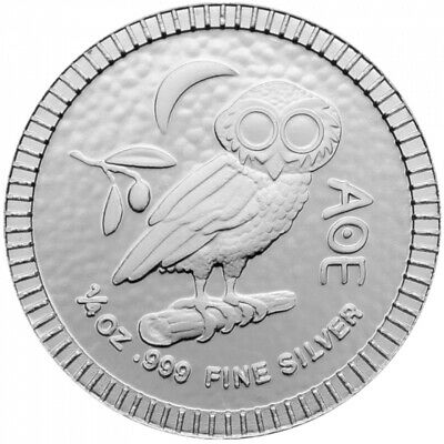 NIUE 2 Dollars Argent 1/4 Once Chouette Athénienne 2020