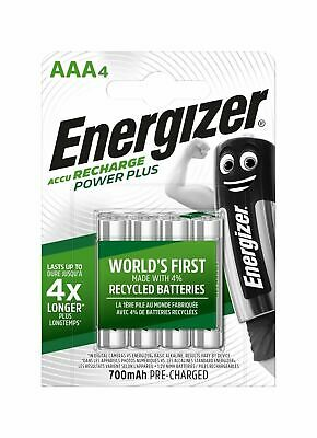 ENERGIZER AAA 700mAh RECHARGEABLE BATTERIES PRE-CHARGED 4 PACK