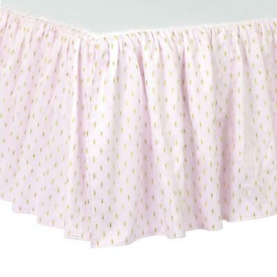 Just Born Baby Sparkle Crib Skirt, Pink