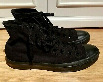 Converse Chuck Taylor All Star monochrome Hi Tops Black M 9 W 11 Great condition