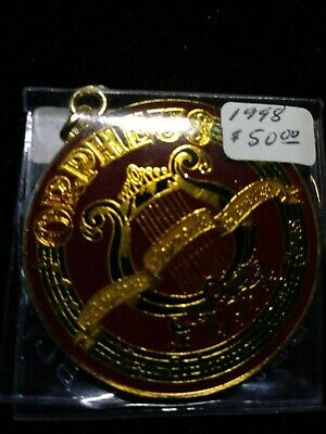 1998 Orpheus Multi-color Looped 2 inch Doubloon - Mardi Gras