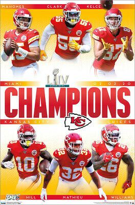 Kansas City Chiefs SUPER BOWL LIV CHAMPIONS 2020 Official Commemorative POSTER