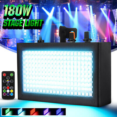 180 LED Strobe Flash Stage Effect Light DMX Party Disco DJ Sound Lighting Lamp