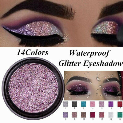 LULAA Cosmetic Glitter Eyeshadow Palette Shimmer Pigment Sparkly Make up Beauty