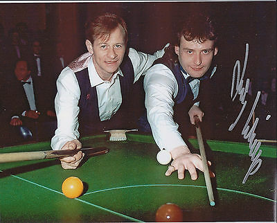 Jimmy WHITE SIGNED 10x8 Photo Autograph with Alex Higgins COA AFTAL SNOOKER