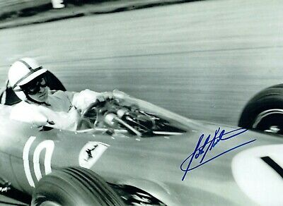 John SURTEES Autograph SIGNED Photo b 16x12 AFTAL COA Formula 1 Champion