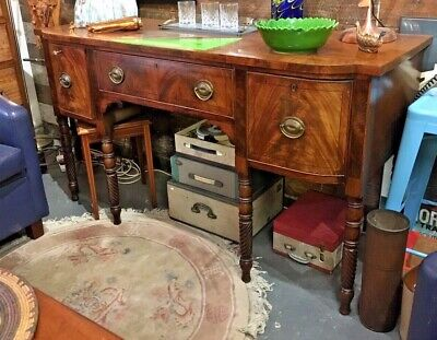 Vintage Walnut Finish Sideboard