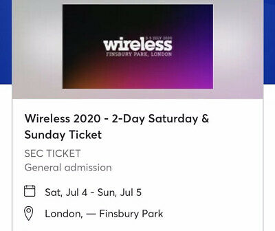 Wireless Festival 2020 SATURDAY&SUNDAY DOUBLE DAY TICKET