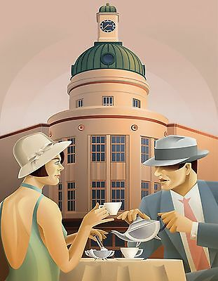 ART DECO 1920s 1930s canvas picture print 12 inch x16 inch stretched over frame