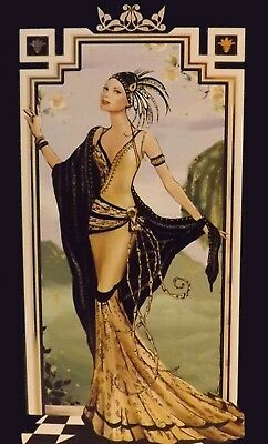 ART DECO 1920s 1930s canvas picture print 12 inch x 20 inch stretched over frame