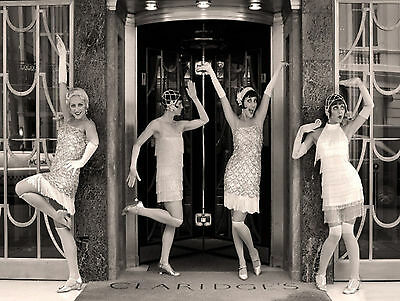 """ART DECO flappers 1920s 1930s canvas picture print 12"""" x16"""" stretched over frame"""