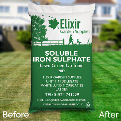 Elixir Gardens 20%FE Soluble Iron Sulphate Lawn Tonic & Moss Treatment