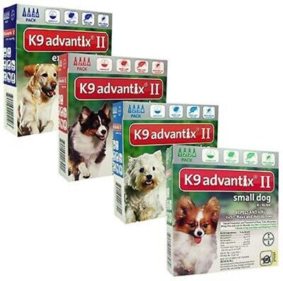 K9 Advantix II for Extra Large Dogs Over 55 lbs - 6 Pack New - Free Shipping !!!
