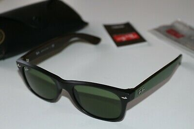 Ray-Ban Rb2132 New Wayfarer Sunglasses 6184/4E 52-18 Matt Black & Military Green
