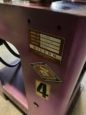NILSON Model S-00 Wire Forming Four Slide Machine .032 Wire