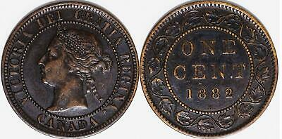 CANADA Large Cents 1882H obv 1 + 1882H obv 2, nice grades ungraded