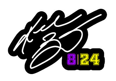 KOBE BRYANT #8 #24 Autograph Vinyl Sticker Decal Bumper Car 4""