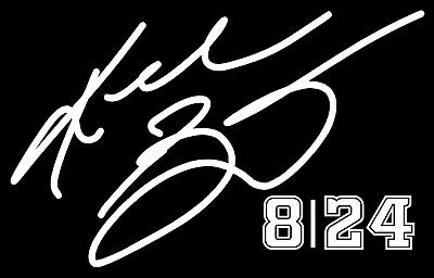 KOBE BRYANT #8 #24 Basketball Vinyl Decal Sticker Car White 6""