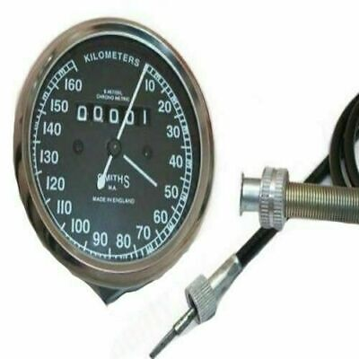 "New Replica Smiths Smeedometer Speedo Cable 47/"" Long for Royal Enfield ECs"