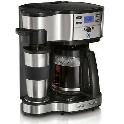 Hamilton Beach 2 Way Brewer 12 Cup Coffee Maker Stainless Steel Programmable