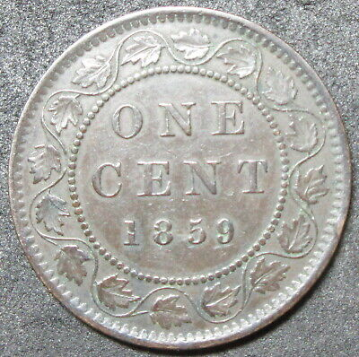 1859 Canada Large Cent Coin