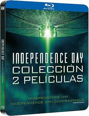 Independence Day + Independence Day: Contraataque Bluray Steelbook Nuevo