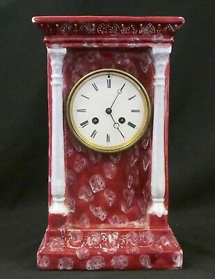 Antique BORDIER #3573 FRENCH CLOCK in China Case. S. Marti Bronze Medal. Works