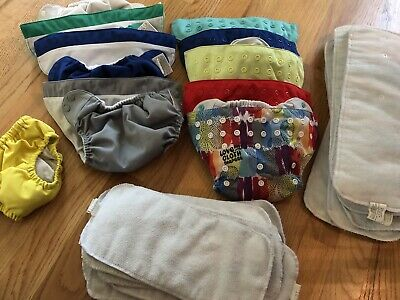8 Bumgenius Cloth Diapers With Inserts* Plus Swim Diaper