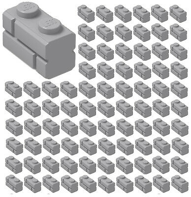 New Lego 50 Light Bluish Grey 1 x 2 Brick 98283 Star Wars Masonry Effect