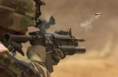 """handpainted oil painting on canvas""""A soldier is shooting with a gun """" @NO3050"""