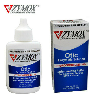 ZYMOX Otic Pet King Cats Dogs Ear Treatment with 1% Hydrocortisone ,1.25 OZ 37ml