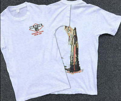 Vintage Beastie Boys Licensed To Ill Tour 1987 Reprint T Shirt Gildan Size S-3XL