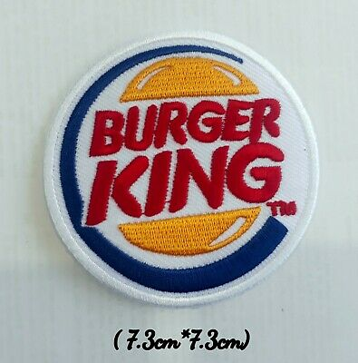 Burger King Logo hamburger Bread with Meat Circle Logo Embroidered Patch Sew on