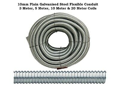 Premium 10mm Steel Galvanised Conduit - Metallic - Tube - Various Lengths
