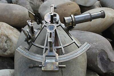 "Vintage Brass Nautical Hand-Made Heavy 7"" Brass Sextant Astrolabe Sextant"