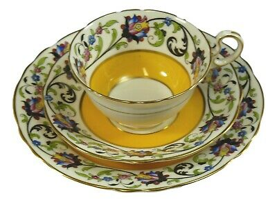 AYNSLEY China 4524 - Art Deco - Trio Tea Cup Saucer and Plate #2- Vintage