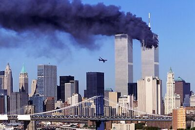Twin Towers 9 11 Attack 8x10 Picture Celebrity Print