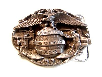 1985 Proud To Be a Lawman Belt Buckle By Bergamont