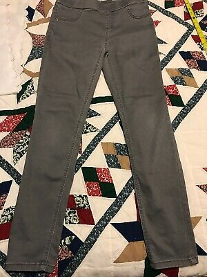 Girls JUSTICE Size 16 Leggings Gray Jeans