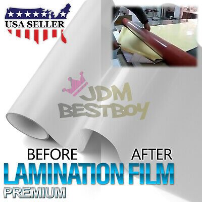 """24""""x60"""" Cold Laminating Film Glossy Clear Monomeric Lamination Poster Sign Decal"""