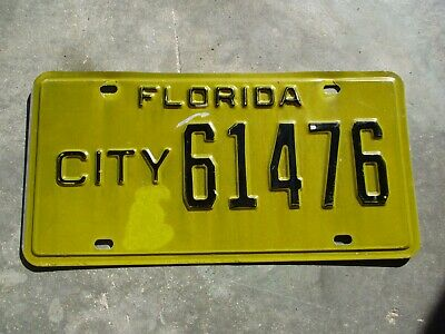 Florida City license plate # 61476