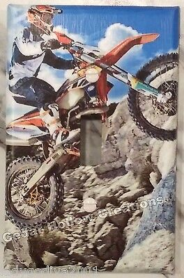 Dirt Bike in Boulder Field - Light Switch Cover/Switchplate - Single Toggle