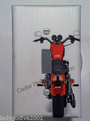 'New!' LARGER SIZE - Red Motorcycle/Rear View-Light Switch Cover - Single Toggle