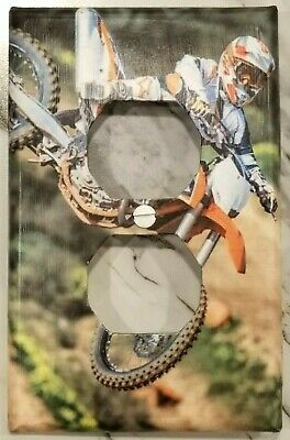 Dirt Bike Speeding Downhill - Outlet Cover - FREE Shipping