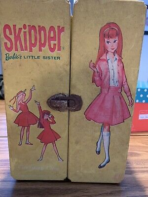 Vintage 1963 Skipper Doll Barbie's Sister W/Case & Dresses Coats