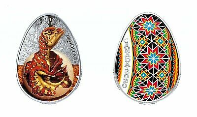 2020 Traditional Ukrainian Pysanka Egg-shaped Vegreville Pure Silver Coin - NEW!