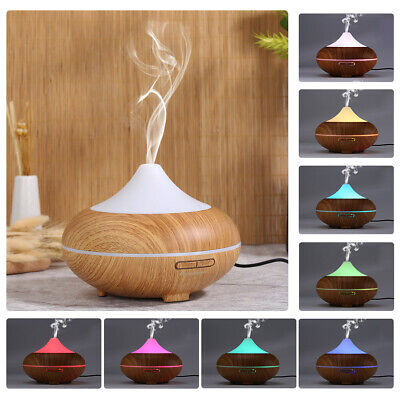 500ML LED Essential Oil Diffuser Ultrasonic Air Humidifier Aroma Aromatherapy AU